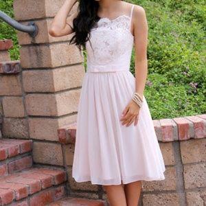 ted baker | ballerina blush pink lace bodice dress